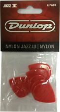 Jim Dunlop Jazz Guitar Picks-Rojo 6 III Pack