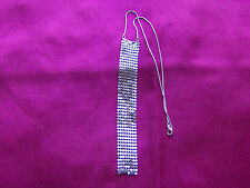 Necklace, Silver Coloured Statement, Snake Chain, Chain Mail Pendant,  UK Seller