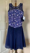 New listing Icings NWT Child Large NAVY LACE ICE ROLLER DANCE SKATING  DRESS