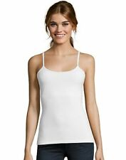 Hanes  Hanes Women's Stretch Cotton Cami with Built-In Shelf Bra