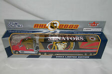 "NHL 2003 Ottawa Senators Truck Trailer Metal Die Cast Scale 1:80 9 1/2"" X 2"""