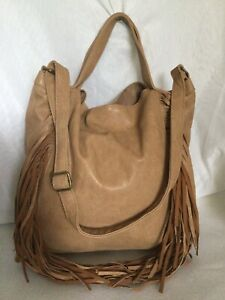 Large AMBER ROSE Tan Faux Leather Tote/Cross Body/Shoulder Bag / Handbag