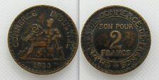 Objet de collection française de 1923 commerce jeton-bon pour 2 francs