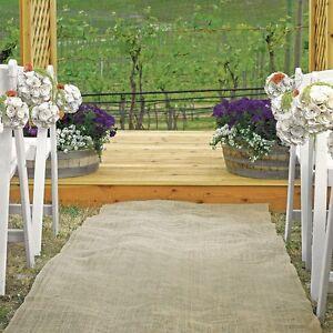 """50 feet × 40"""" Wide Burlap Aisle Runner 100% Natural Jute Wedding Rustic Vintage"""
