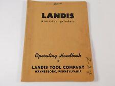 New Listingvintage Landis Precision Grinders Parts Catalog 12 X 28 Universal Grinding 3