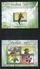 Papua New Guinea 1644-1645 MNH 2012 Orchids Flora  x19478