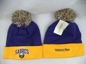Buffalo Sabres Mitchell & Ness NHL Cuffed Knit Beanie Toque Hat Cap OSFA