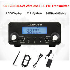 CZE-05B 0.5W Wireless PLL FM Transmitter 76MHz~108MHz Home Stereo Broadcast LCD