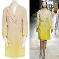 runway DRIES VAN NOTEN SS11 peach yellow ombre oversized cotton coat dress XS