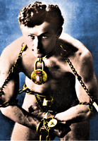 HOUDINI IN CHAINS - REFRIGERATOR PHOTO MAGNET