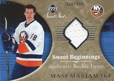 (HCW) 2006-07 Upper Deck Sweet Shot MASI MARJAMAKI Rookie 314/499 Jersey 01719