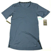 Nike Dry Dri-Fit Utility T Shirt Obsidian Blue Running Training AA1591-471 NWT