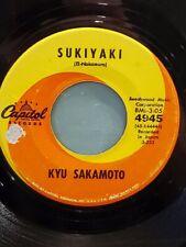 """KYU SAKAMOTO 7"""" 45 RPM """"Sukiyaki"""" & """"Anoko No Namaewa Nantenkana"""" VG- cond."""