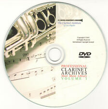 PROFESSIONAL CLARINET SHEET MUSIC ARCHIVE- DVD PDF - Volume 1