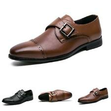 Mens Dress Formal Business Suits Shoes Buckle Pointy Toe Oxfords Work Office L