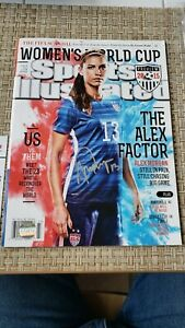 Alex Morgan signed autographed Sports Illustrated with COA and bonus magazines