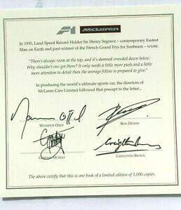 "F1 McLAREN F1 ""SIGNED"" G.Murray/R.Dennis Authentic Certificate, NOT COPIES!"
