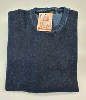 PULL TAILLE XXL  SWEATER HOMME 100% PUR CASHMERE CACHEMIRE GLADIUS BLEU