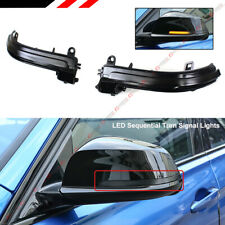 FOR 13-19 BMW 1 2 3 4 SERIES SMOKED LENS SEQUENTIAL LED SIDE MIRROR TURN SIGNAL