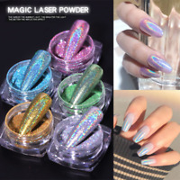 Nail Art Powder Glitter Mirror Chrome Colors UV Gel Polish Pigment Holographic