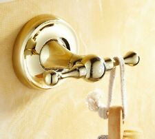 Bathroom Gold Color Brass Wall Mounted Hardware Robe Hook qba236