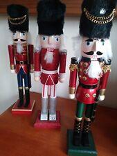 CHRISTMAS NUTCRACKER SOLDIERS SET OF 3  38CMS TALL BNWT CASH ON PICK UP LAST SET