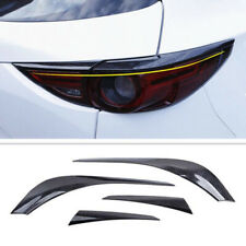 4X Carbon Fiber Rear Tail Light Lamp Trim Cover Fit For Mazda CX-5 CX5 2017 2018