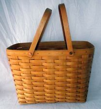 Basket Longaberger Cherished Memories Sweetheart 1999 Two Swinging Handles