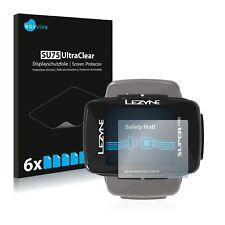 6x Displayschutzfolie für Lezyne Super Pro GPS Schutzfolie Klar Folie