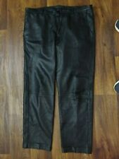 MEN'S BLACK LEATHER PANTS 38 X 32 - MOTORCYCLE OR PARTY PANTS