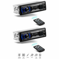 Boss 616UAB Single Din USB/SD AUX Bluetooth Radio Car Stereo Receiver (2 Pack)