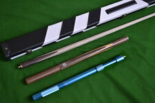 """57.1"""" Handmade 3/4 Snooker Cue Set includes extensions and case"""