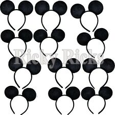 8 Mickey Mouse Ears Headband Black Party Disney Minnie Costume Favors Black One