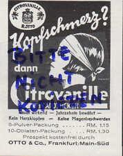 FRANKFURT/M., Werbung 1928, Otto & Co. Citrovanille gegen Kopfschmerz Apotheke