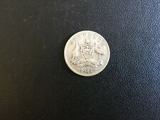 "Australia 1944 ""S""  Sixpence KGVI -  Silver - Circulated"
