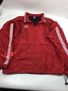 Vintage Umbro Windbreaker Zipper Jacket Red Medium