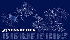 Servizio COMPLETO Sennheiser, manuali d'uso e schemi