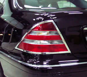 Chrome Taillights Trim Bezel Surround Rim For Mercedes Benz S-Class W220 98-02