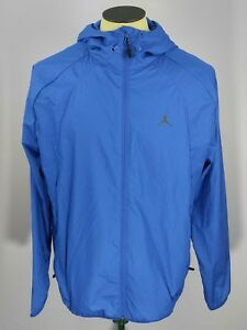 Nike Air Jordan JSW Wings Windbreaker Jacket Blue Black Men's Size L 897884-480