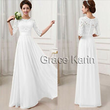 Victorian Lace Ball Gown Bridesmaid Dresses Long Evening Cocktail Party Dress