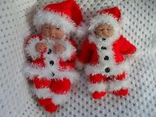 "Creative Dolls Designs Knitting pattern Christmas Santa Set For 10 & 15"" Dolls"