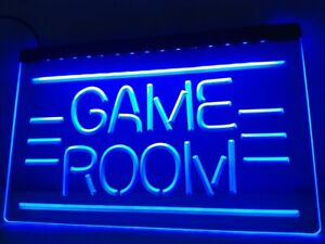 Games Room Neon LED Light Sign Bar Pub **QUALITY** Display Home Man Cave Game