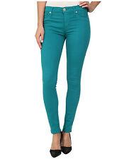 Hudson Jeans Nico Mid Rise Super Skinny Marina Blue Green Womens 27 *NEW* $176
