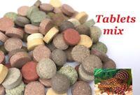 TABLETS MIX TROPICAL FISH FOOD FEED COLOUR ENHANCING TETRA PLATY CICHLID PLECO