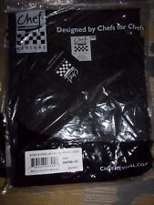 New Chef Revival Knife and Steel Chef Jacket Black Size 4x J005BK-4X