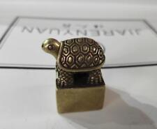 China's archaize brass tortoise seal small statue