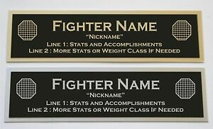Custom Engraved MMA UFC Nameplate for your signed personal item or display case