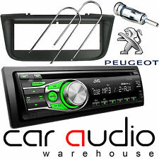 Peugeot 406 JVC CD MP3 AUX GREEN Display Car Stereo Radio Player & Fitting Kit