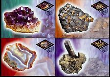 2006 Minerals,Gem,Quartz,Ametiste,Agate,Mineralien,Romania,6099=6 FDC-maxi cards