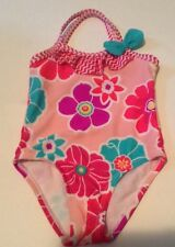 Baby Girls One Pc Bathingsuit Swimsuit Pink Floral 0-6 Months